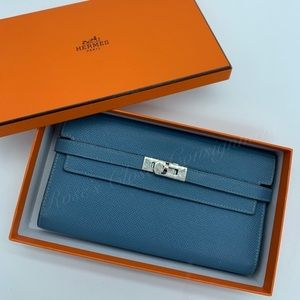 Authentic Hermès Kelly classic wallet in Epsom